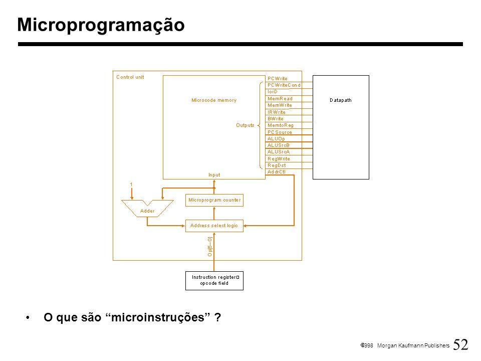 Microprogramação O que são microinstruções