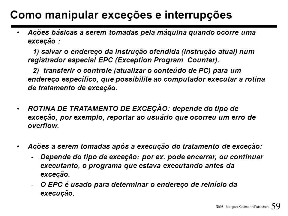 Como manipular exceções e interrupções