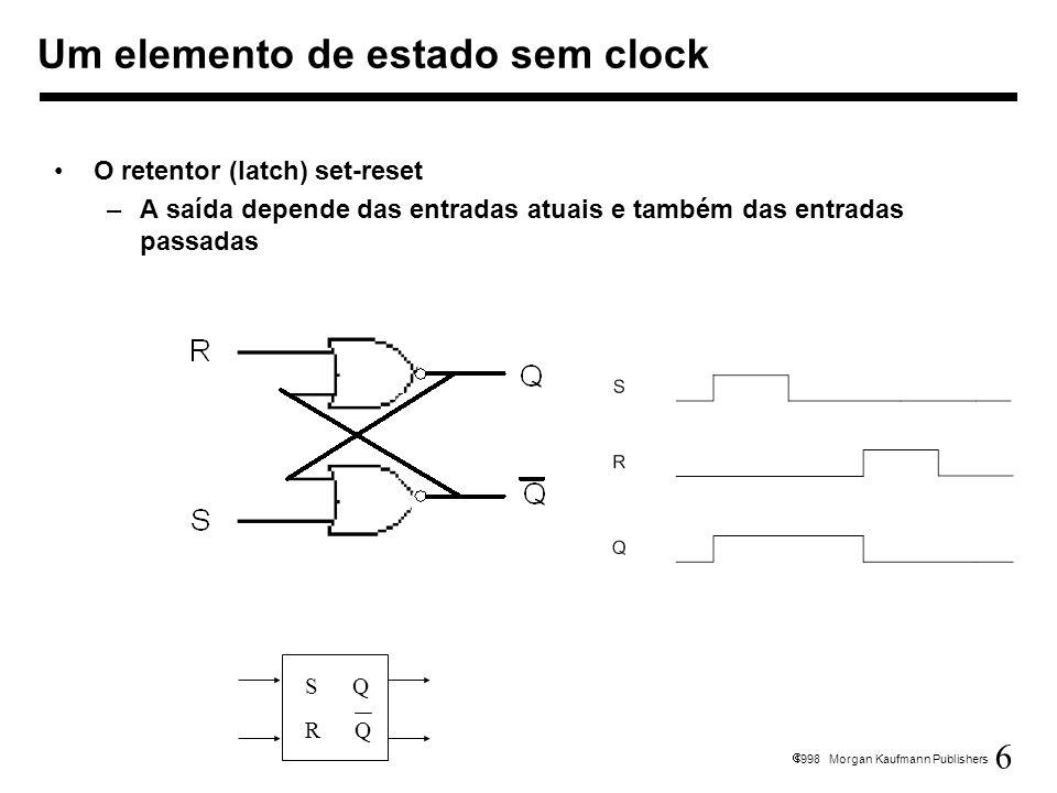 Um elemento de estado sem clock