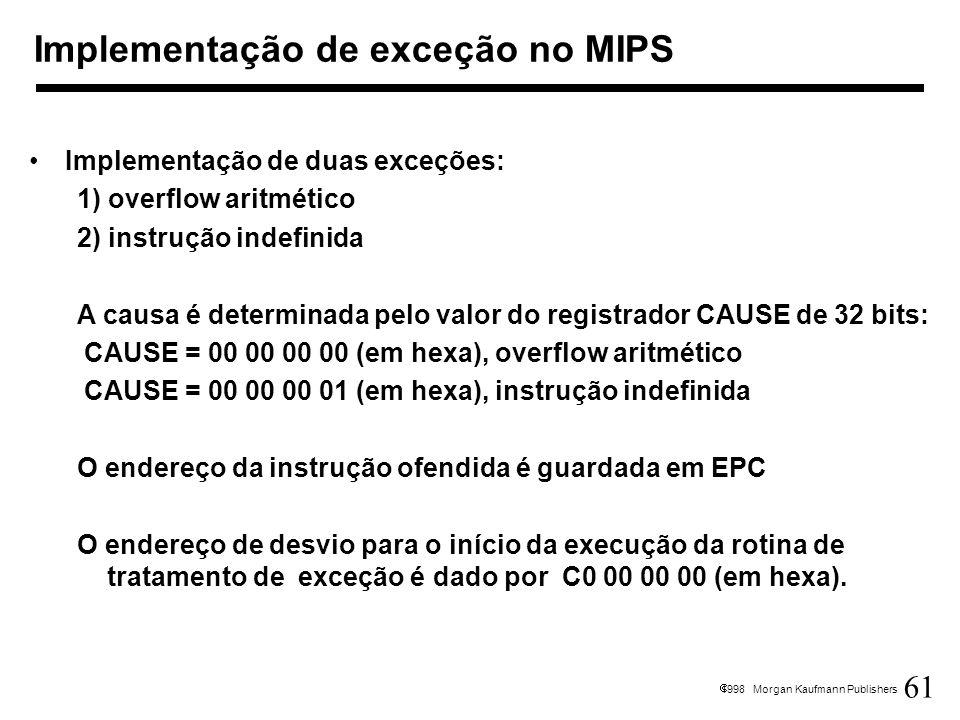 Implementação de exceção no MIPS