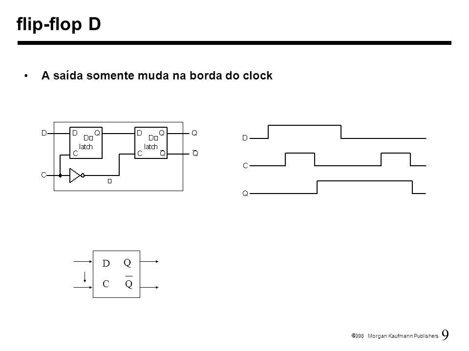 flip-flop D A saída somente muda na borda do clock D Q C Q