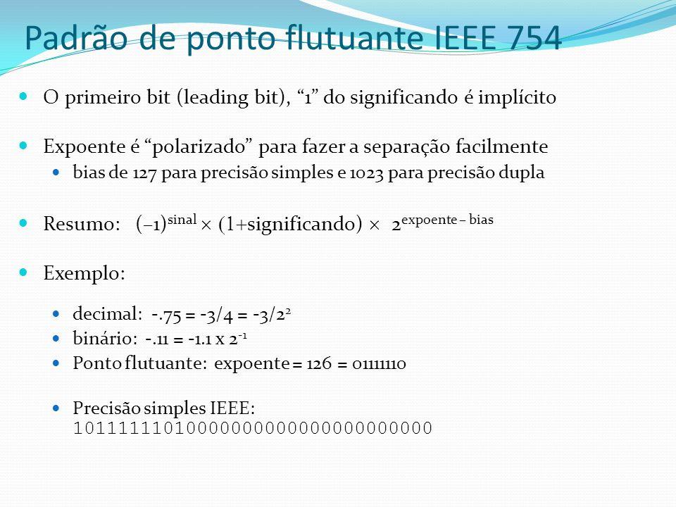 Padrão de ponto flutuante IEEE 754