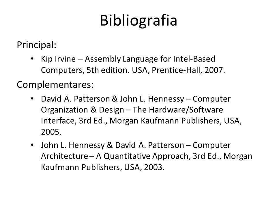 Bibliografia Principal: Complementares: