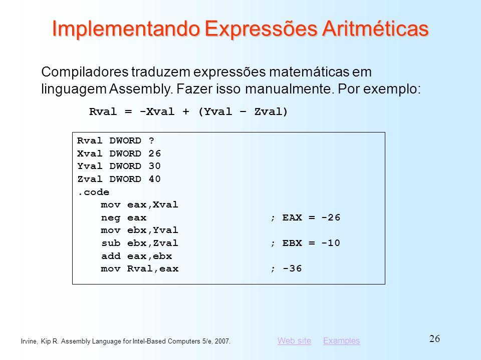 Implementando Expressões Aritméticas