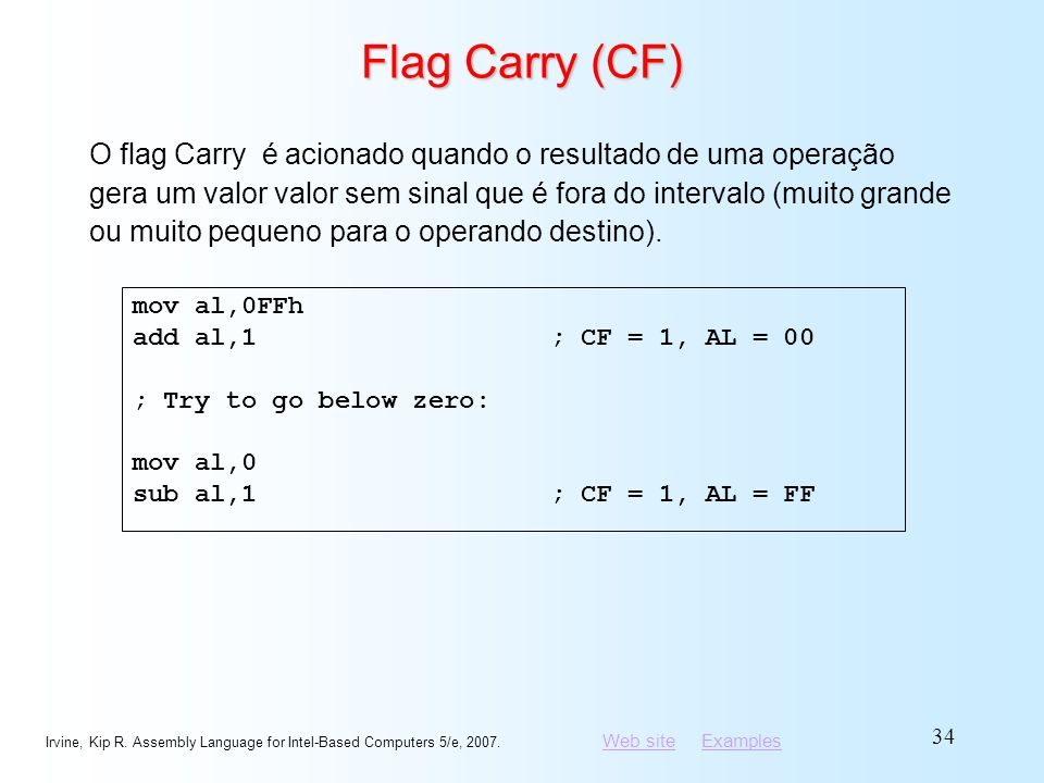 Flag Carry (CF)