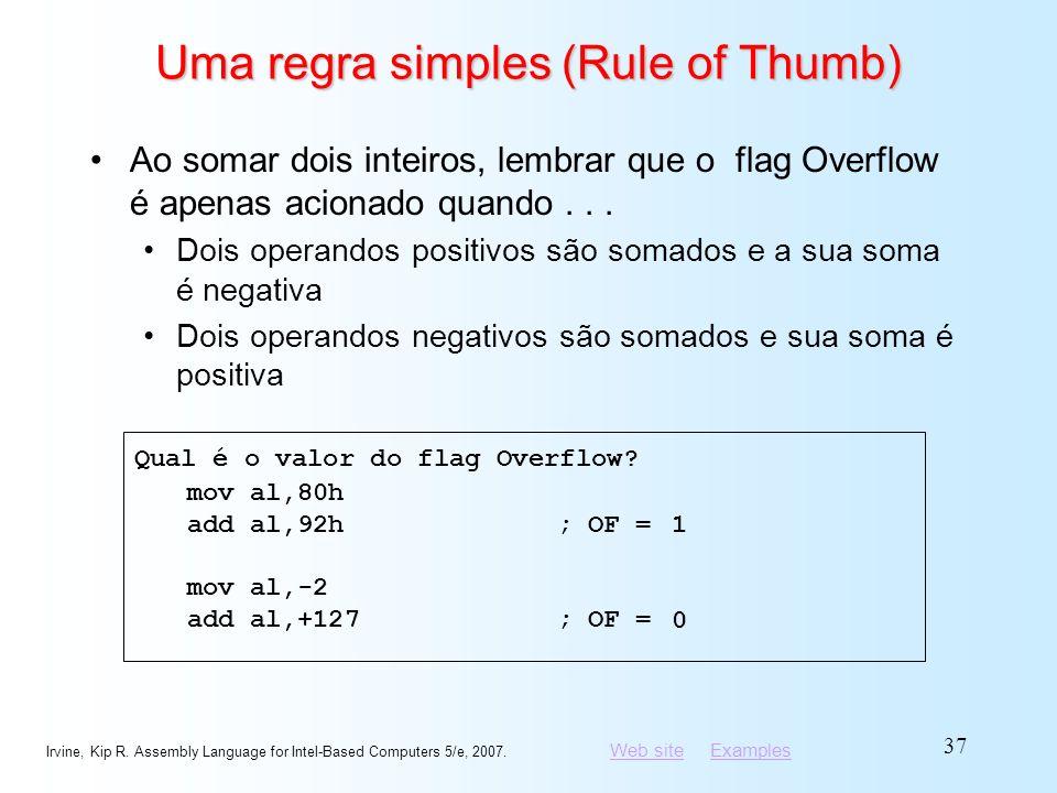 Uma regra simples (Rule of Thumb)