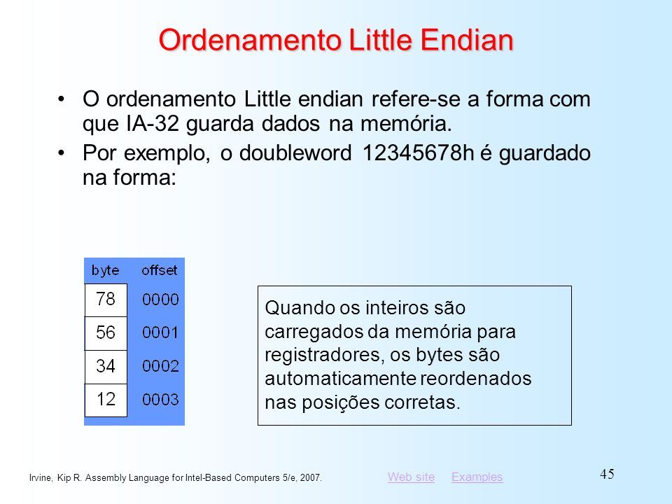 Ordenamento Little Endian
