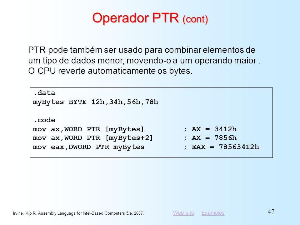 Operador PTR (cont)