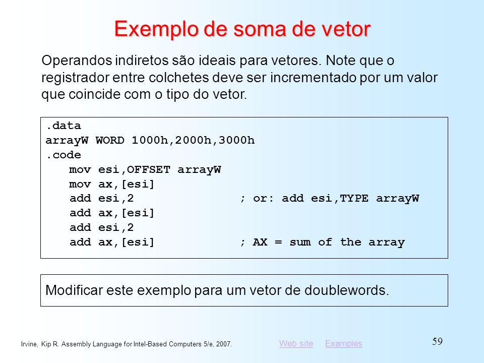 Exemplo de soma de vetor