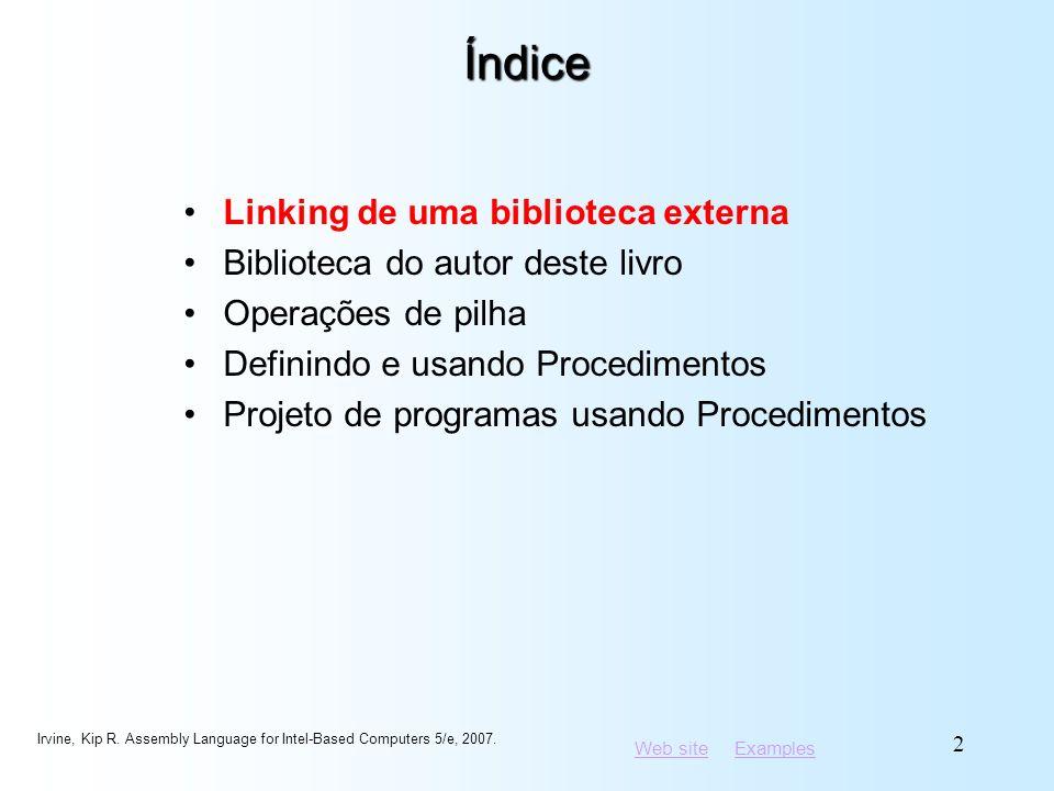 Índice Linking de uma biblioteca externa