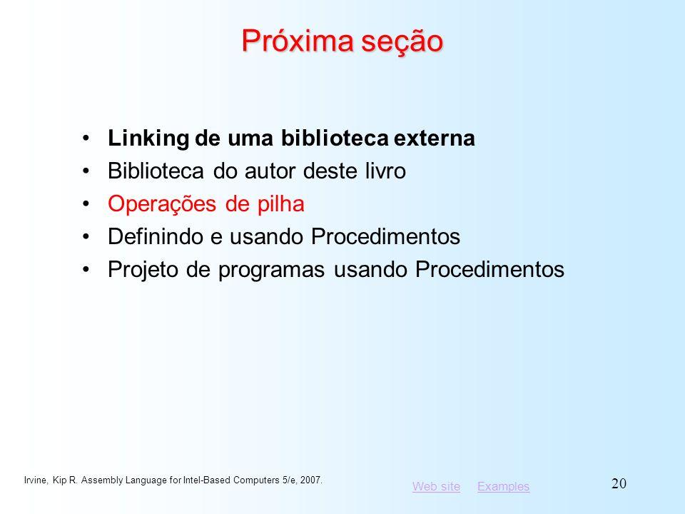Próxima seção Linking de uma biblioteca externa