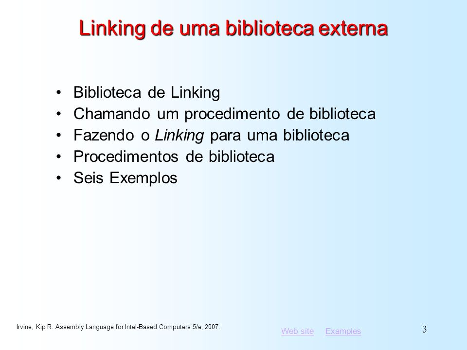 Linking de uma biblioteca externa
