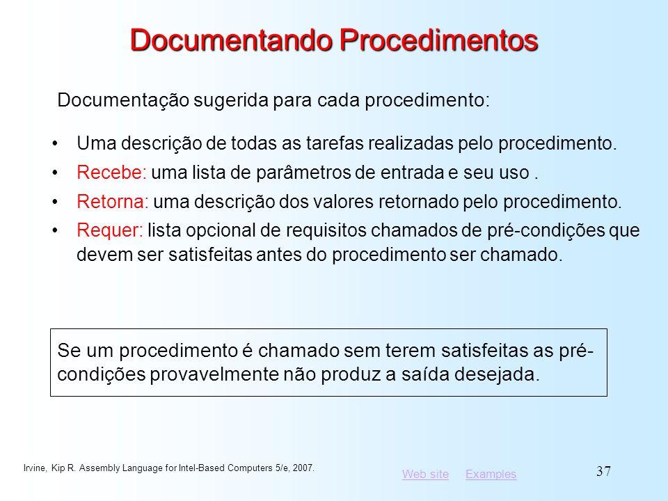 Documentando Procedimentos