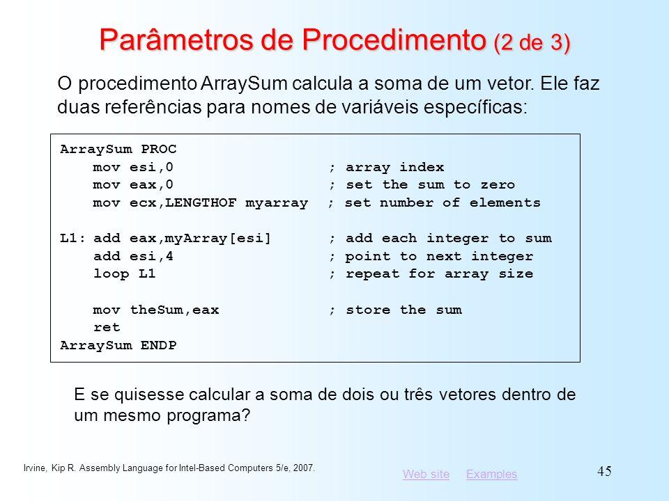 Parâmetros de Procedimento (2 de 3)
