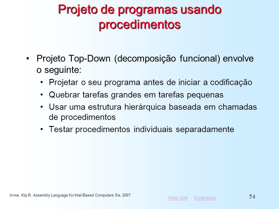 Projeto de programas usando procedimentos