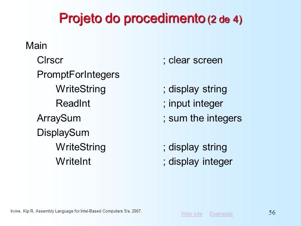 Projeto do procedimento (2 de 4)