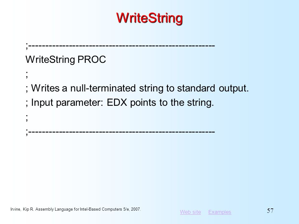 WriteString