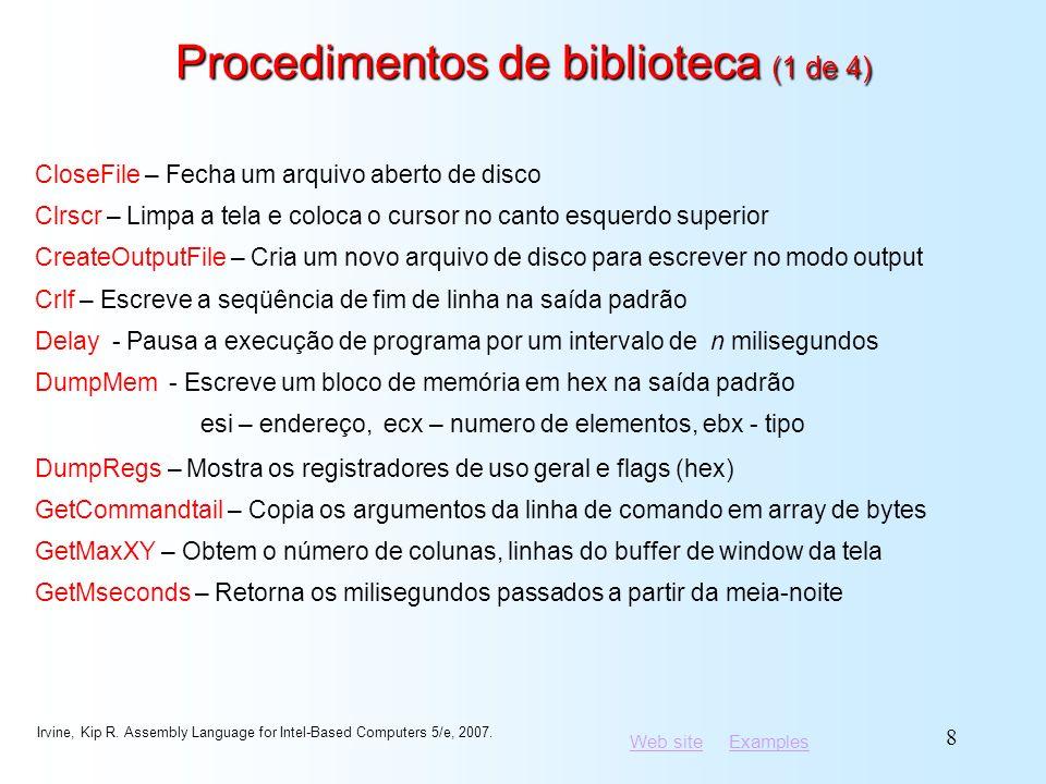 Procedimentos de biblioteca (1 de 4)