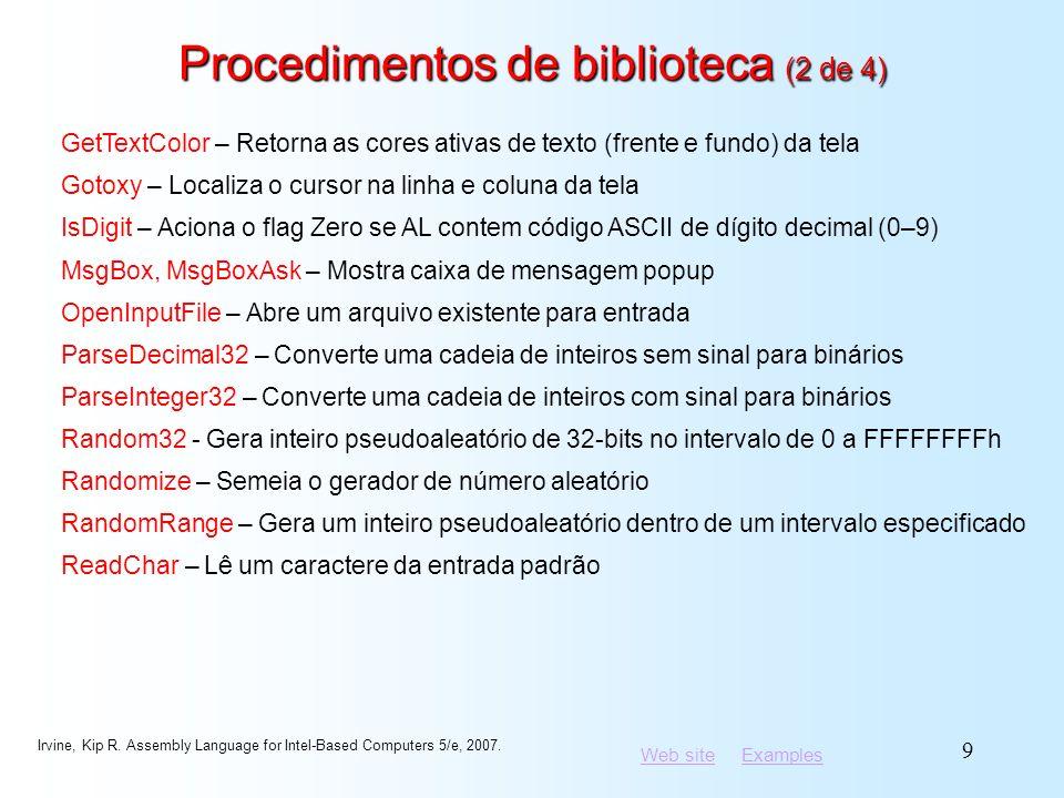 Procedimentos de biblioteca (2 de 4)