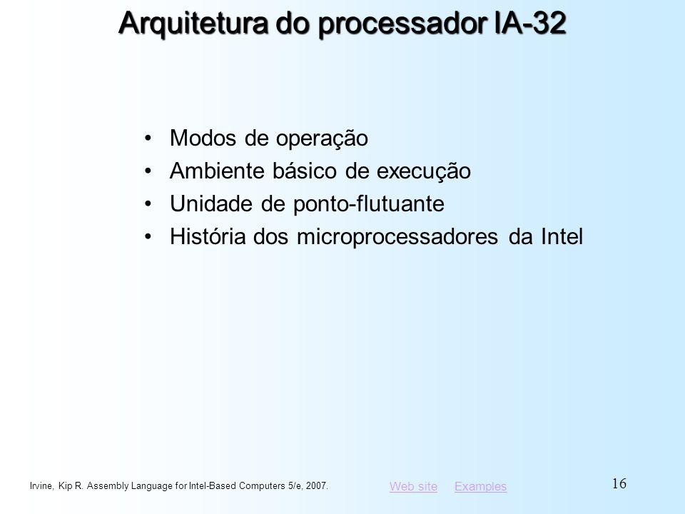Arquitetura do processador IA-32