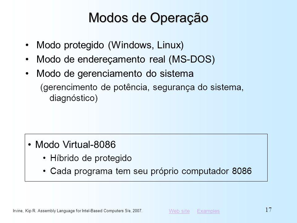 Modos de Operação Modo protegido (Windows, Linux)