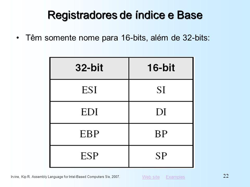 Registradores de índice e Base