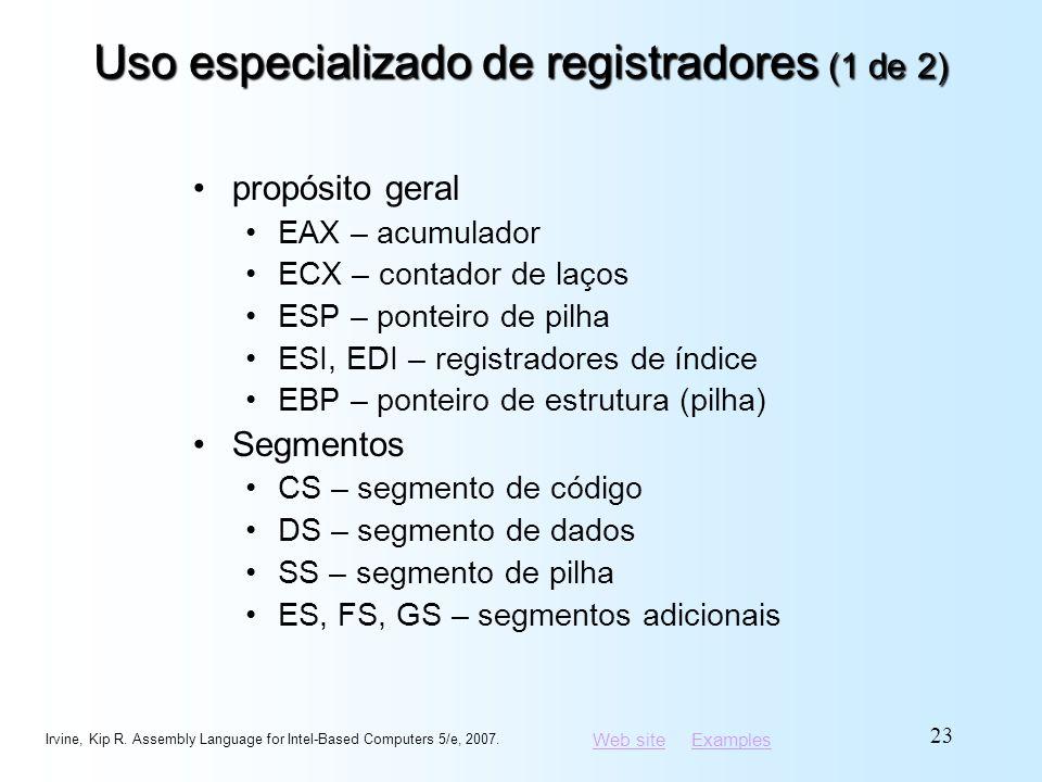 Uso especializado de registradores (1 de 2)