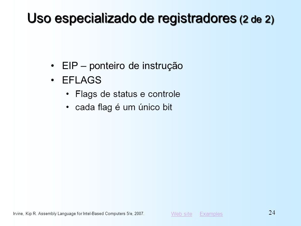 Uso especializado de registradores (2 de 2)
