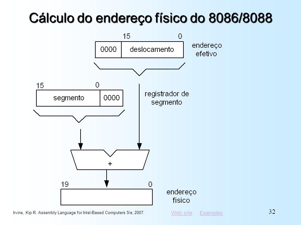 Cálculo do endereço físico do 8086/8088