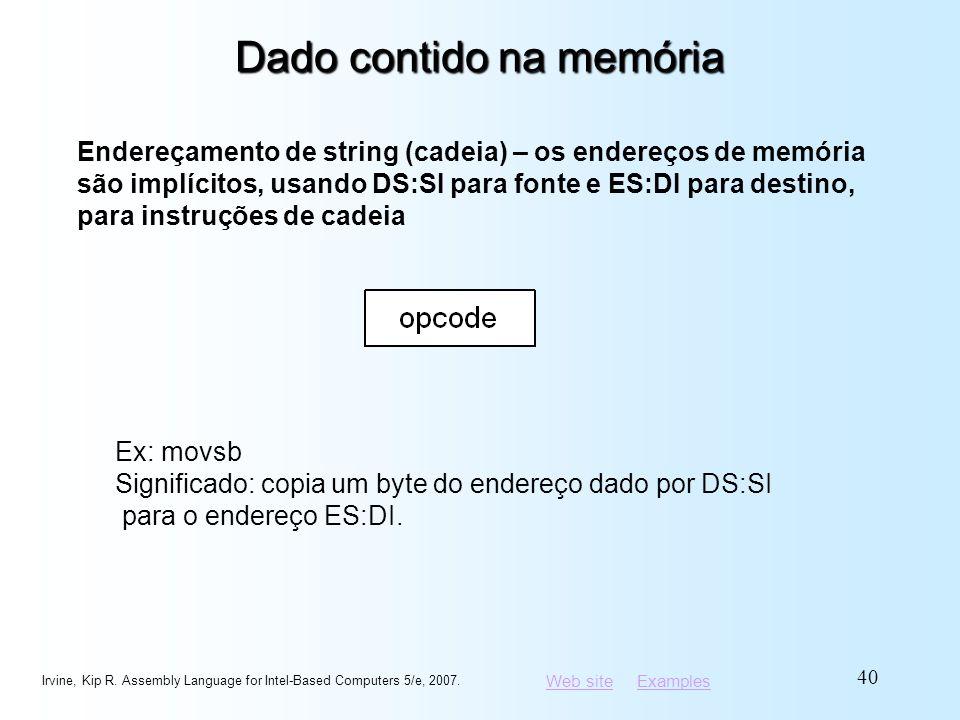 Dado contido na memória
