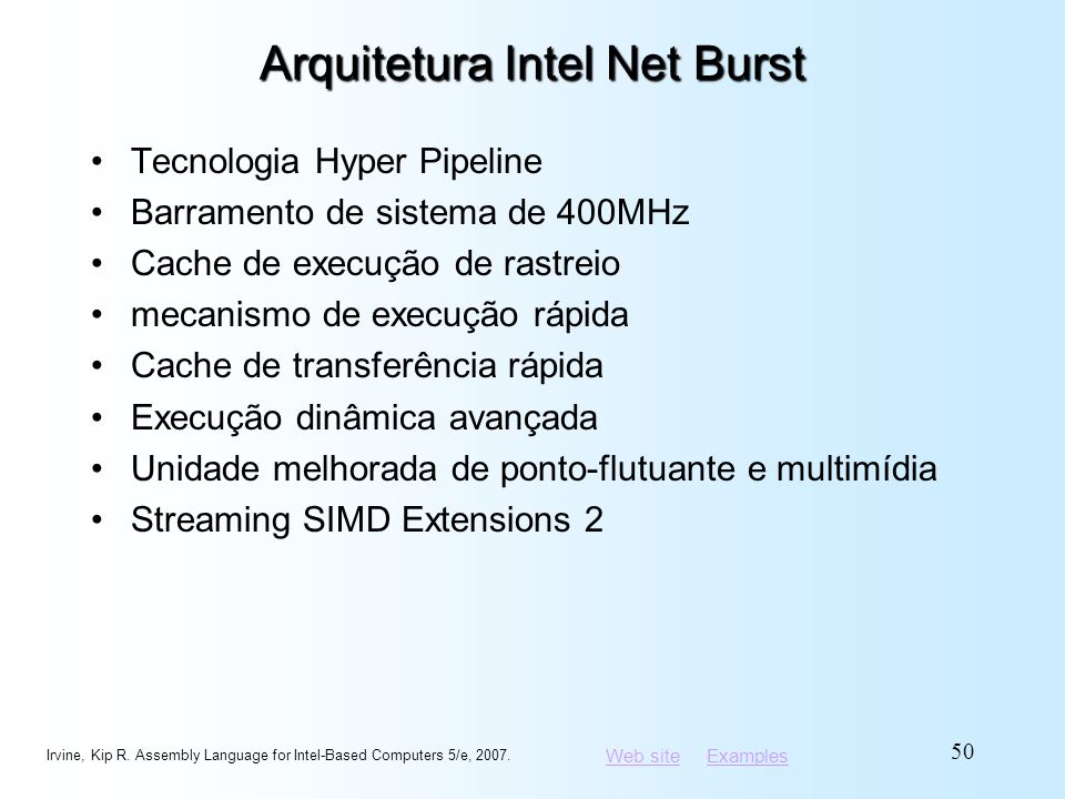 Arquitetura Intel Net Burst