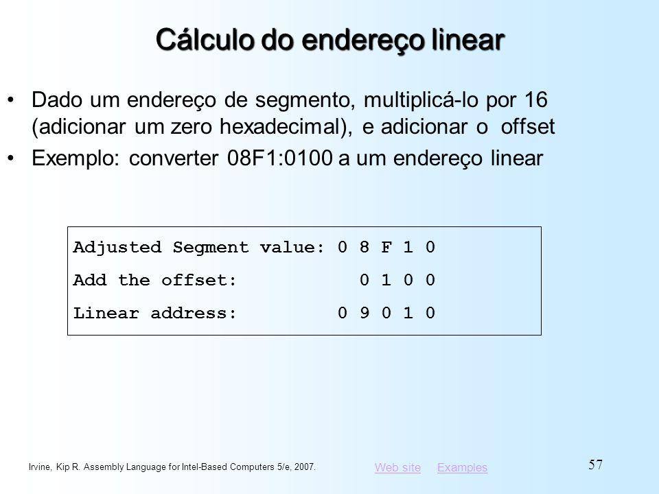 Cálculo do endereço linear