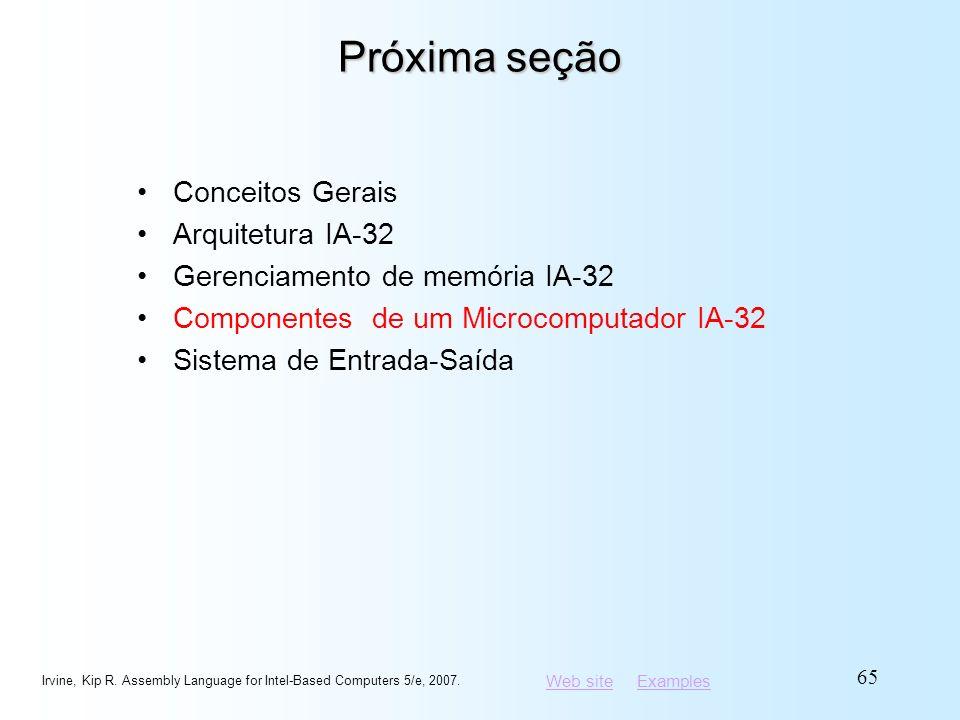 Próxima seção Conceitos Gerais Arquitetura IA-32