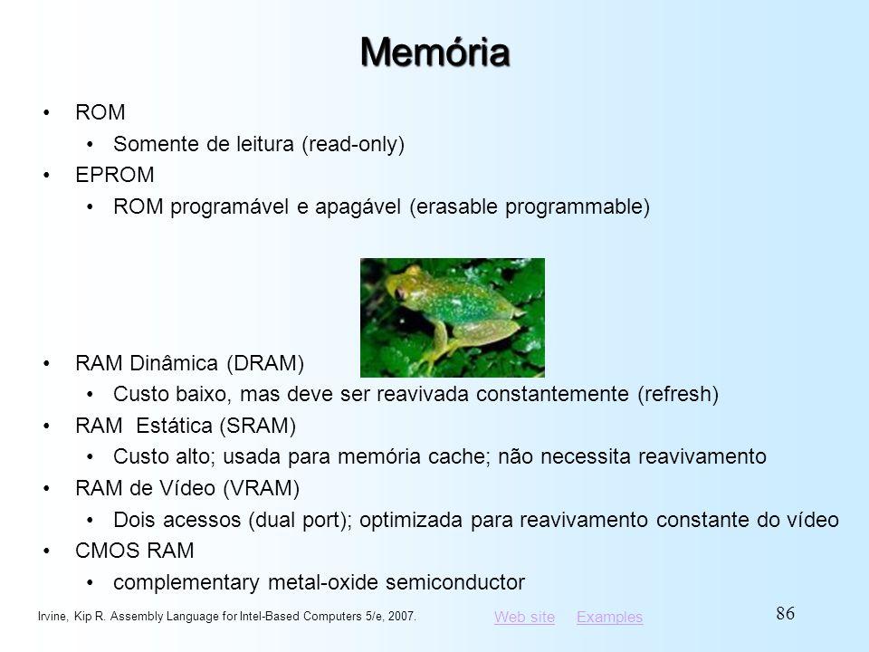 Memória ROM Somente de leitura (read-only) EPROM