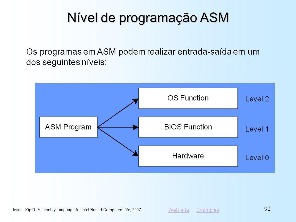 Nível de programação ASM