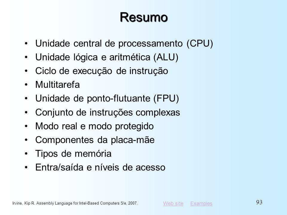 Resumo Unidade central de processamento (CPU)