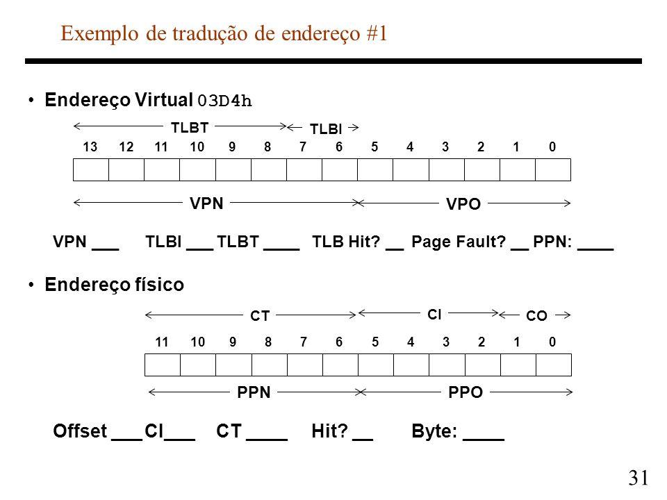 Exemplo de tradução de endereço #1
