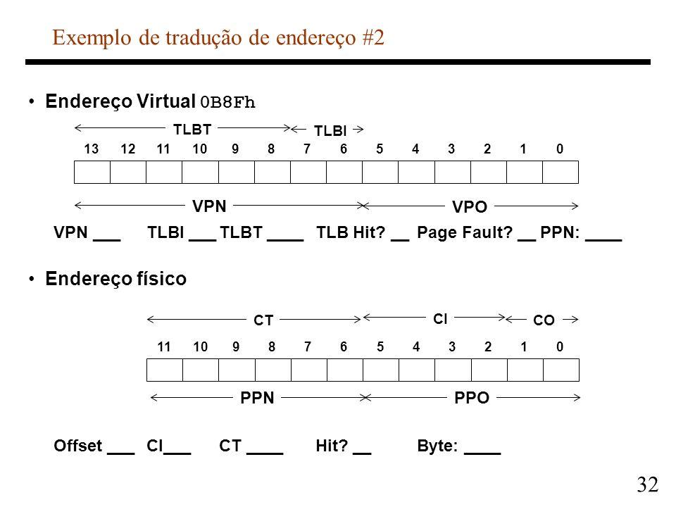 Exemplo de tradução de endereço #2