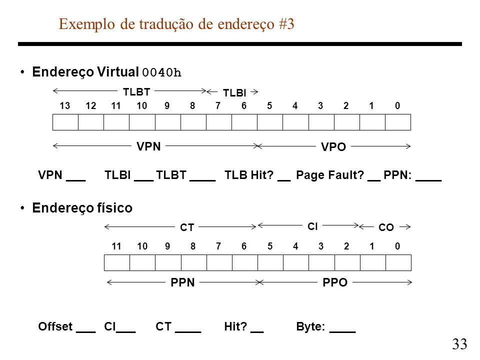 Exemplo de tradução de endereço #3