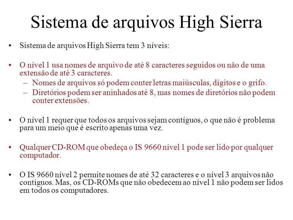Sistema de arquivos High Sierra