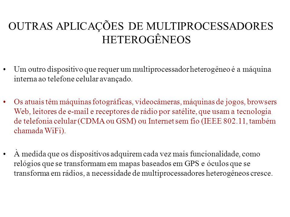 OUTRAS APLICAÇÕES DE MULTIPROCESSADORES HETEROGÊNEOS