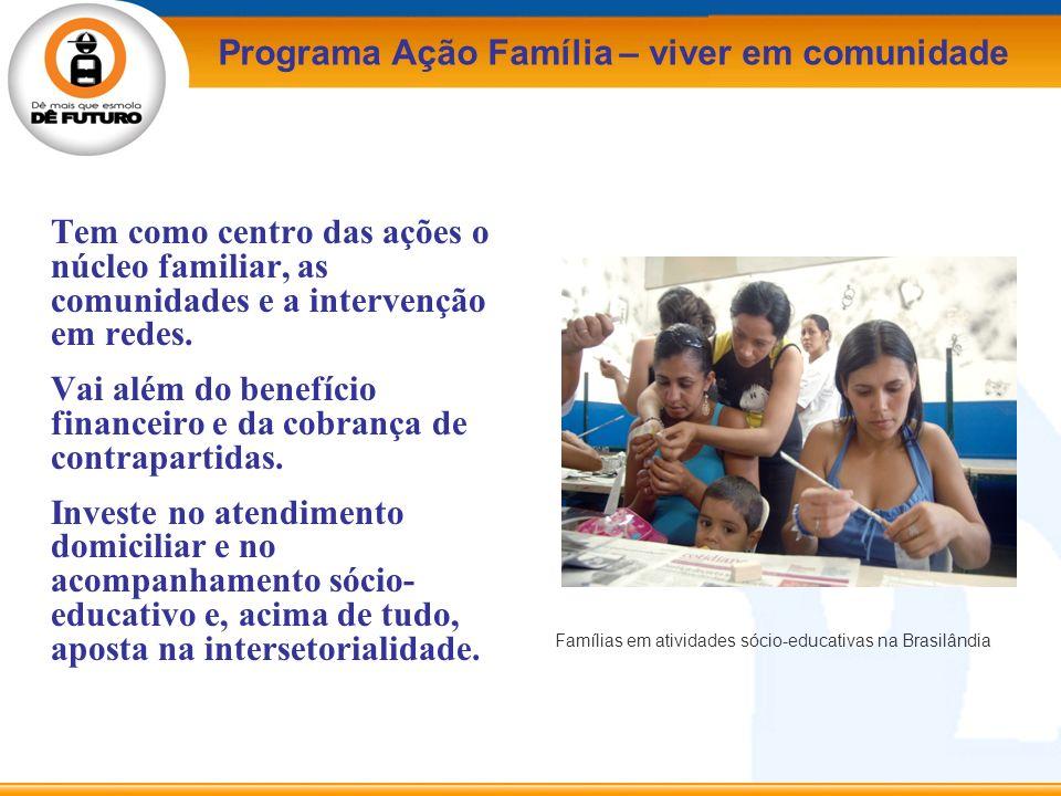 Famílias em atividades sócio-educativas na Brasilândia