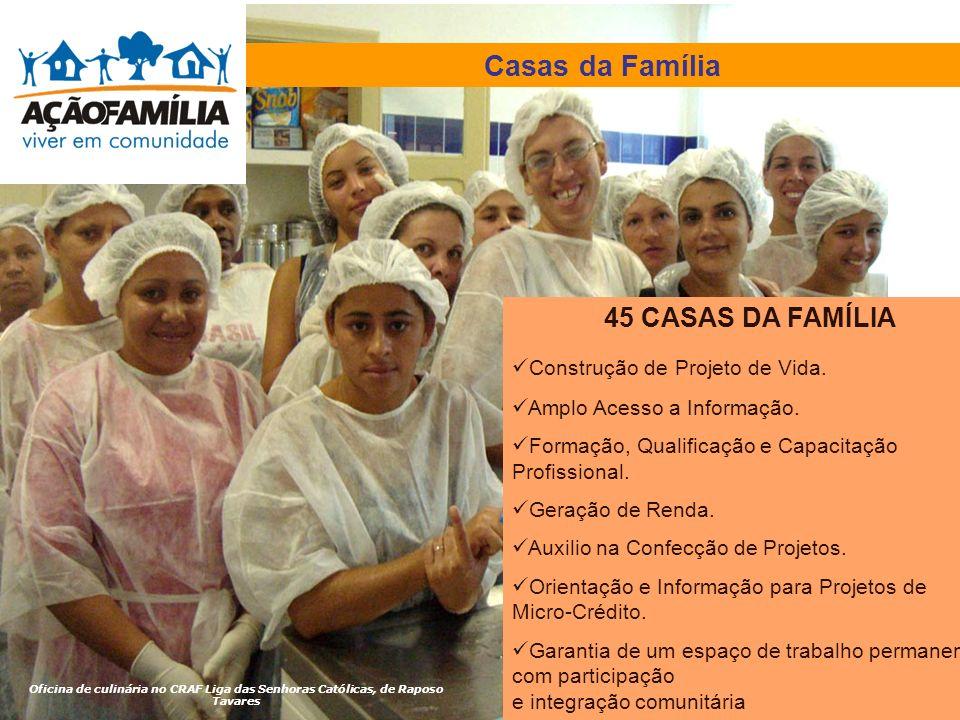 Casas da Família 45 CASAS DA FAMÍLIA Construção de Projeto de Vida.