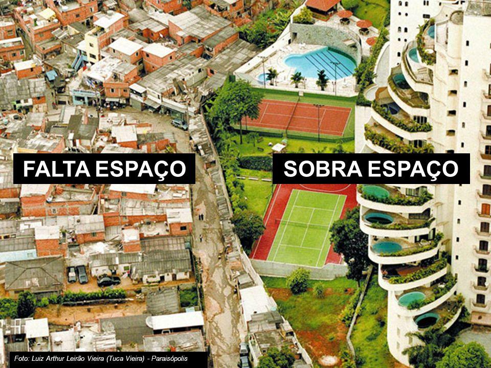 muito desigual São Paulo uma cidade FALTA ESPAÇO SOBRA ESPAÇO