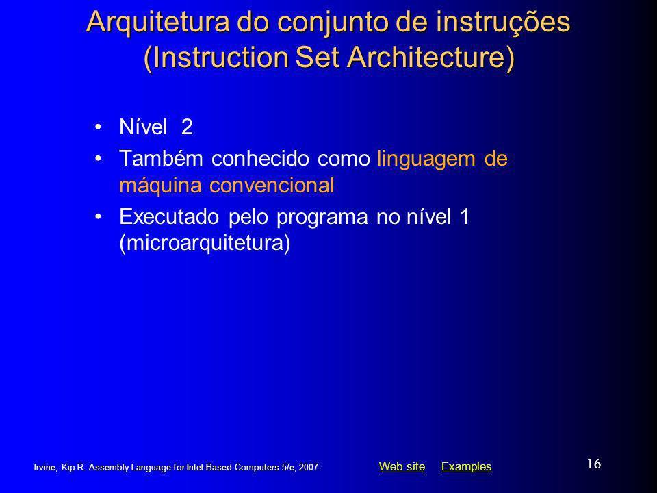 Arquitetura do conjunto de instruções (Instruction Set Architecture)