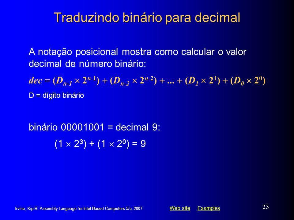 Traduzindo binário para decimal