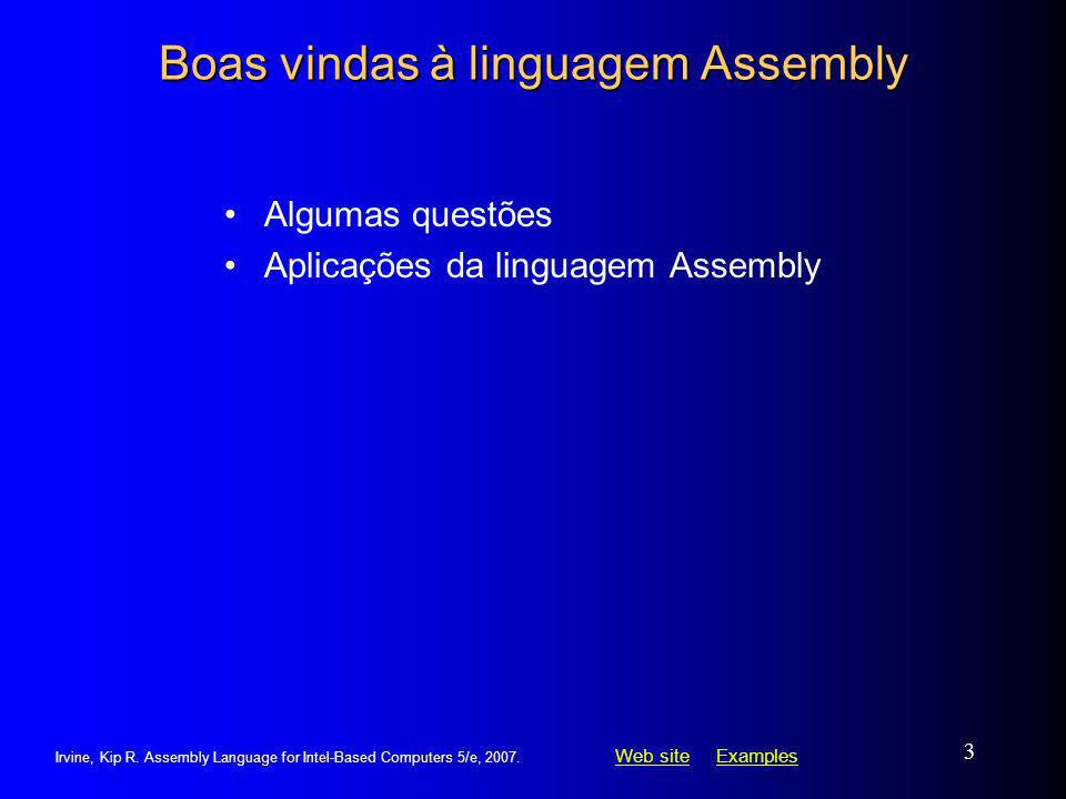 Boas vindas à linguagem Assembly