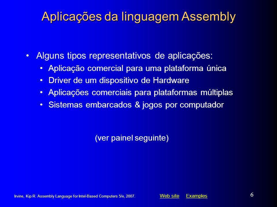 Aplicações da linguagem Assembly