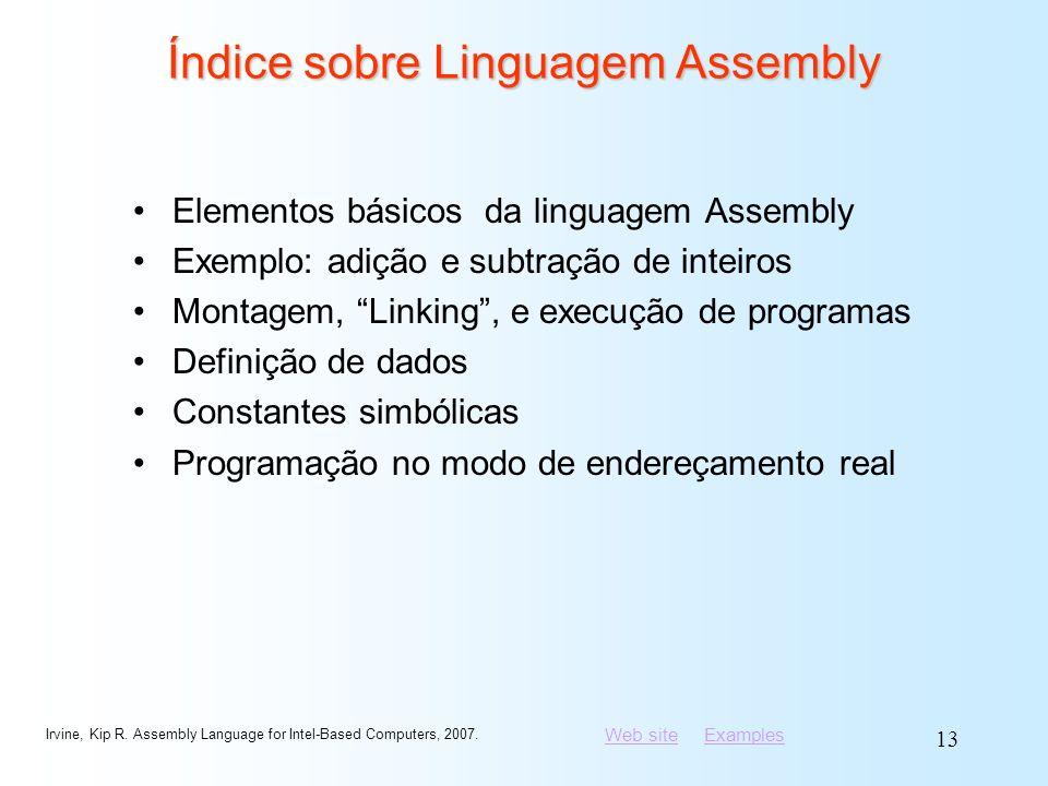 Índice sobre Linguagem Assembly