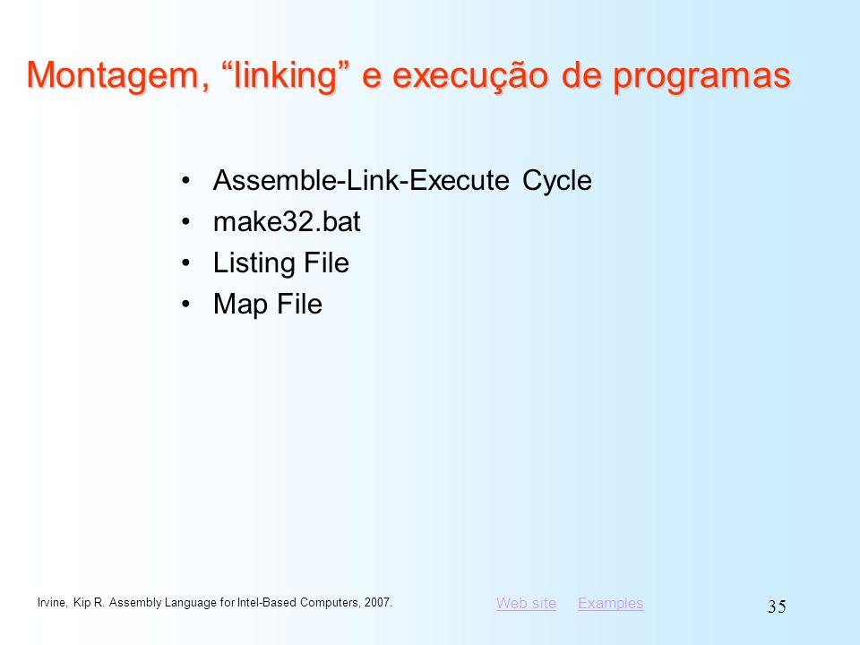 Montagem, linking e execução de programas